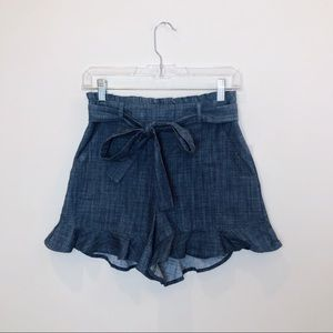 Nordstrom BP. Dark Blue Paperbag Shorts Size Small